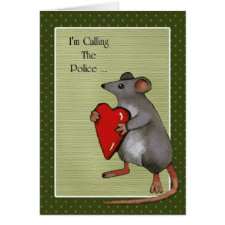 You've Stolen My Heart: Mouse: Funny, Love Card