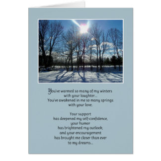You've warmed so many of my winters... card