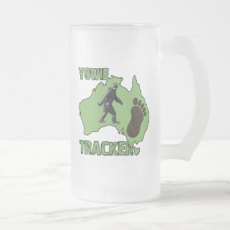 Yowie Tracker Frosted Glass Beer Mug