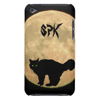 Yowl at the Moon Ghost Kitty iPod Case-Mate Cases