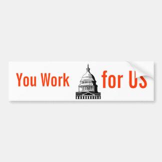 Yoy Work for US bumper sticker