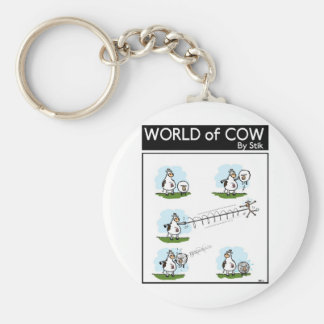Yoyo Sheep Basic Round Button Keychain
