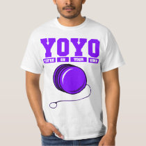 YoYo Your On Your Own Purple T Shirt