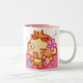 YoyoCici Shop Girl Two-Tone Coffee Mug