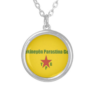 YPG Flag Silver Plated Necklace