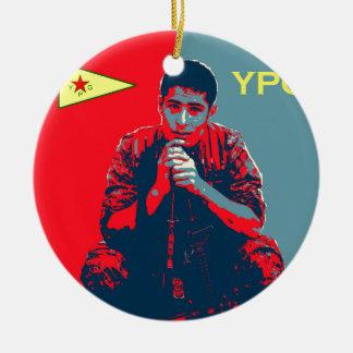 YPG Soldier 4 art 2 Ceramic Ornament