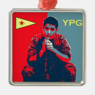 YPG Soldier 4 art 2 Metal Ornament