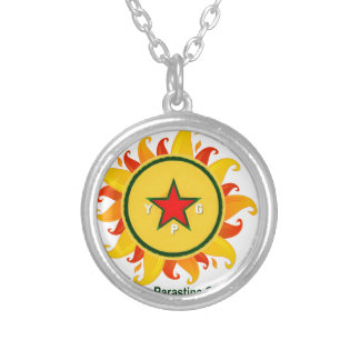 ypg - sun 2 a silver plated necklace