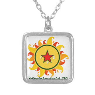 ypg - sun 2 silver plated necklace