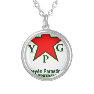 ypg-ypj - support kobani -clear silver plated necklace