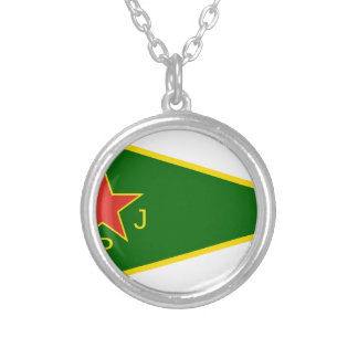 YPJ Flag Silver Plated Necklace