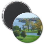 Ypsilanti Michigan Golf Course on Ford Lake Trees Magnets