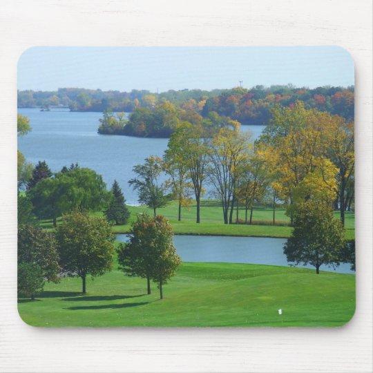 Ypsilanti Michigan Golf Course on Lake Trees Mouse Pad