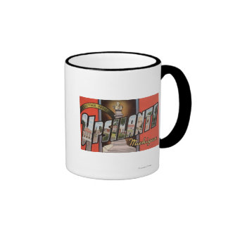 Ypsilanti, Michigan - Large Letter Scenes Ringer Mug