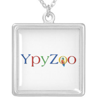 YpyZoo - to glue square Square Pendant Necklace