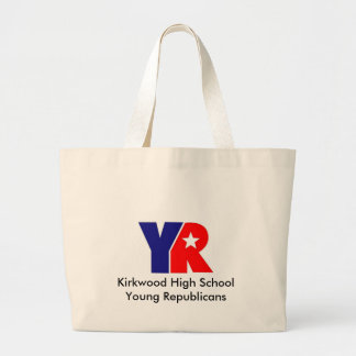 YR Logo, Kirkwood High School Young Republicans Large Tote Bag