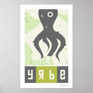 Yrbe - poster inspirado ruso de los animales póster