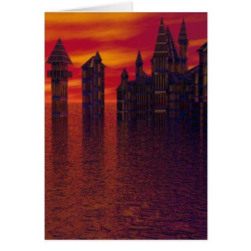 Ys Rising - CricketDiane Designer Castle Art Card