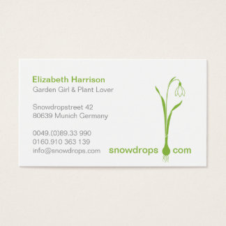 ♥ Ysigns *Galanthus nivalis* Snowdrops 1a Business Card
