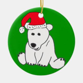 YT- Polar Bear Christmas Ornament