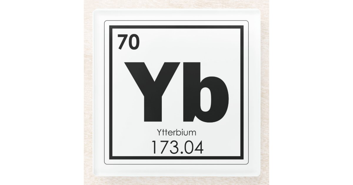 Ytterbium Chemical Element Symbol Chemistry Formul Glass Coaster