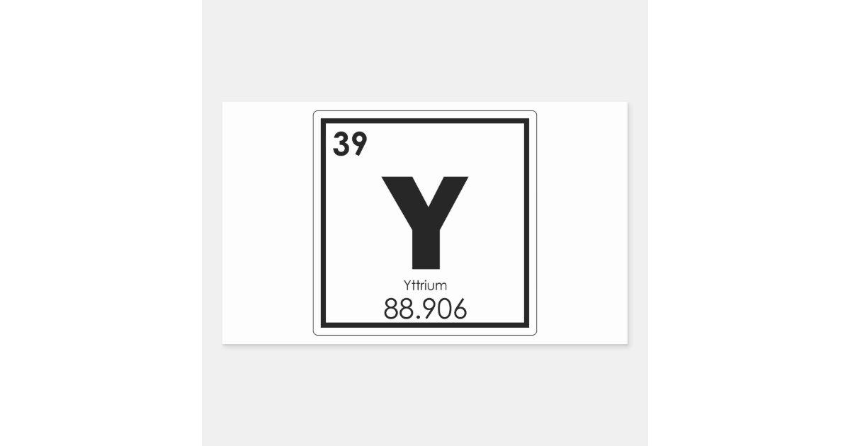 Yttrium Chemical Element Symbol Chemistry Formula Rectangular