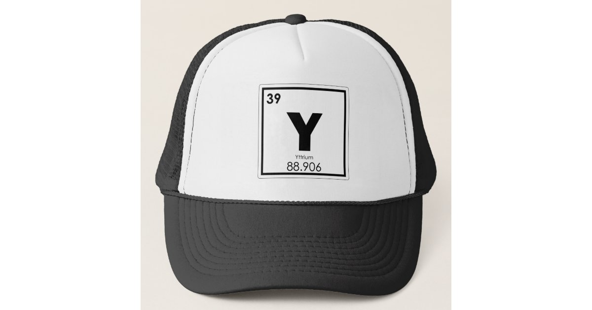 Yttrium Chemical Element Symbol Chemistry Formula Trucker Hat
