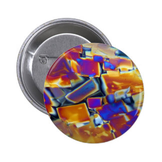 Yttrium nitrate under the microscope 2 inch round button
