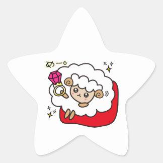 yu bi wa me e ru star sticker