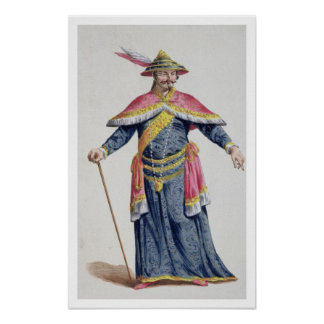 Yu Emperor of China from 'Receuil des Estampes, Re Poster