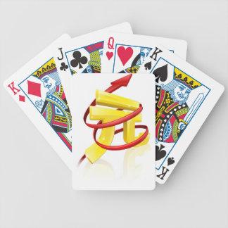 Yuan de levantamiento o beneficios baraja cartas de poker