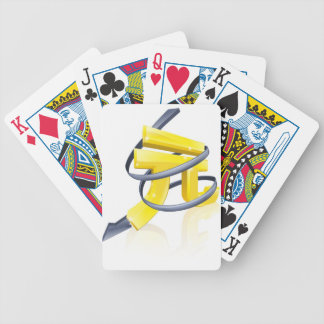 Yuan que cae baraja cartas de poker