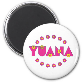 Yuana in Flores Pink Refrigerator Magnet