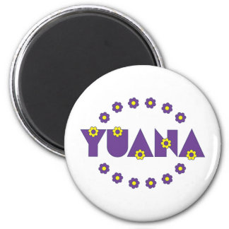 Yuana in Flores Purple Magnets