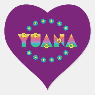 Yuana in Flores Rainbow Heart Sticker