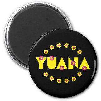 Yuana in Flores Yellow Magnets