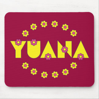 Yuana in Flores Yellow Mouse Pad