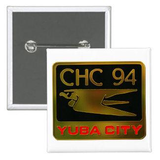 Yuba City 1994 Pin Cuadrado