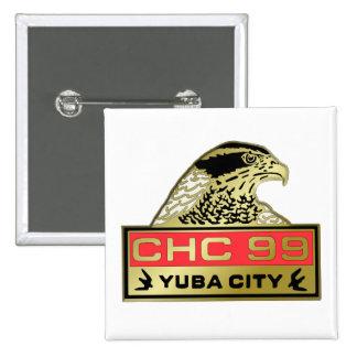 Yuba City 1999 Pin Cuadrado