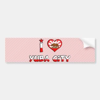 Yuba City, CA Pegatina De Parachoque
