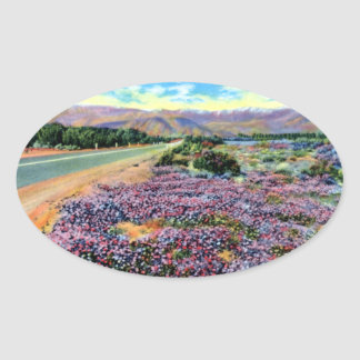 Yuba City California Highway 99 Views Oval Sticker