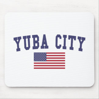 Yuba City US Flag Mouse Pad