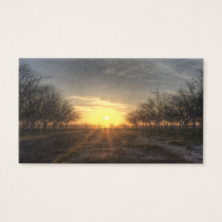Yuba Country Sunset Business Card