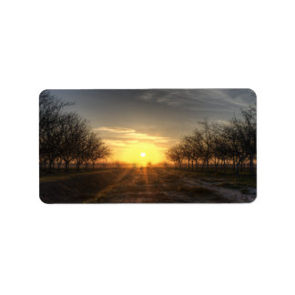 Yuba Country Sunset Label