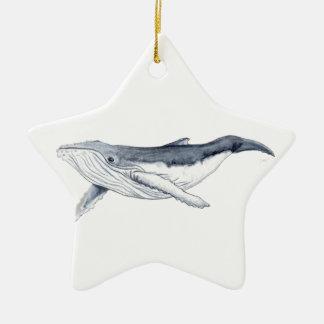 Yubarta drinks whale Christmas decoration Ceramic Ornament