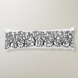 Yuca blanco y negro moderna por completo almohada