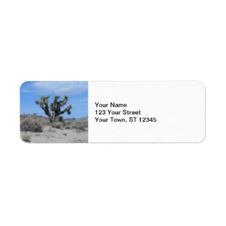 Yuca del desierto de Mojave Etiqueta De Remitente