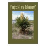 Yuca en tarjeta de felicitación de la floración