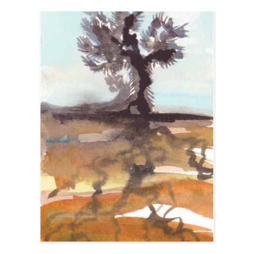 Yuca y postal de la acuarela de las raíces