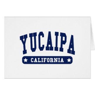 Yucaipa California College Style tee shirts Card